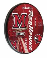 Miami of Ohio Redhawks Digitally Printed Wood Clock