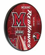 Miami of Ohio Redhawks Digitally Printed Wood Sign