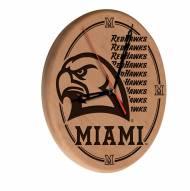 Miami of Ohio Redhawks Laser Engraved Wood Clock