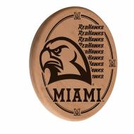 Miami of Ohio Redhawks Laser Engraved Wood Sign