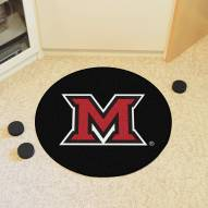 Miami of Ohio Redhawks Hockey Puck Mat