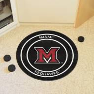 Miami of Ohio Redhawks Hockey Puck Mat