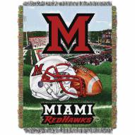 Miami of Ohio Redhawks Home Field Advantage Throw Blanket