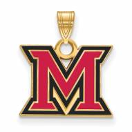 Miami of Ohio RedHawks Sterling Silver Gold Plated Small Pendant