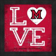 Miami of Ohio RedHawks Love My Team Color Wall Decor