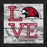 Miami of Ohio RedHawks Love My Team Square Wall Decor