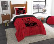 Miami of Ohio RedHawks Modern Take Twin Comforter Set