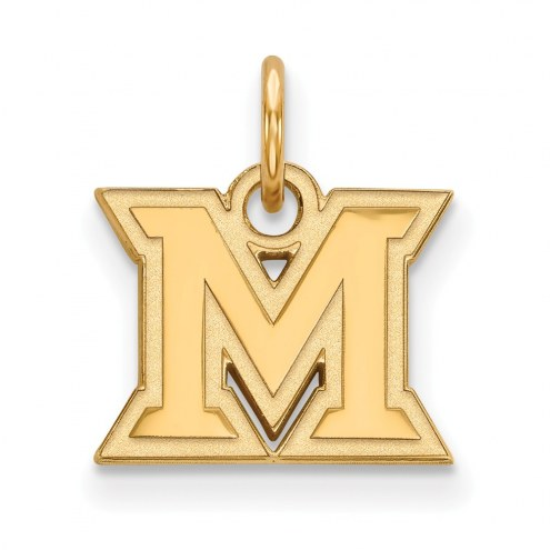 Miami of Ohio RedHawks NCAA Sterling Silver Gold Plated Extra Small Pendant
