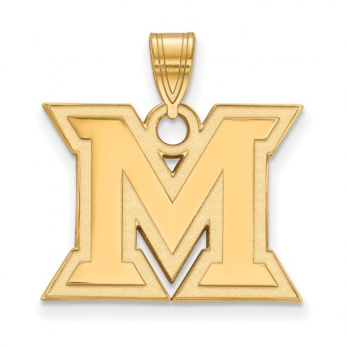 Miami of Ohio RedHawks NCAA Sterling Silver Gold Plated Medium Pendant