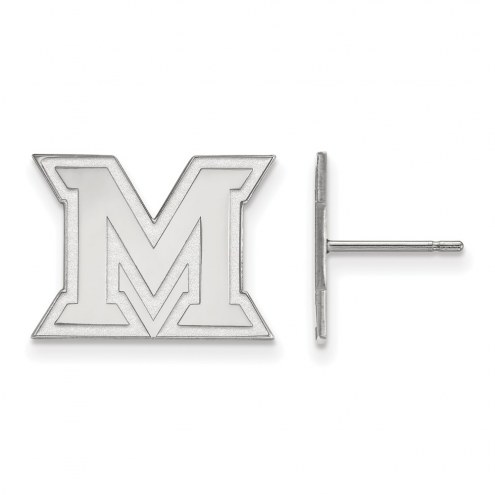 Miami of Ohio RedHawks Sterling Silver Small Post Earrings