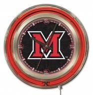Miami of Ohio RedHawks Neon Clock