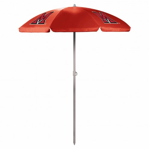 Miami of Ohio RedHawks Red Beach Umbrella