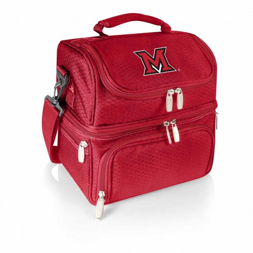 Miami of Ohio RedHawks Red Pranzo Insulated Lunch Box