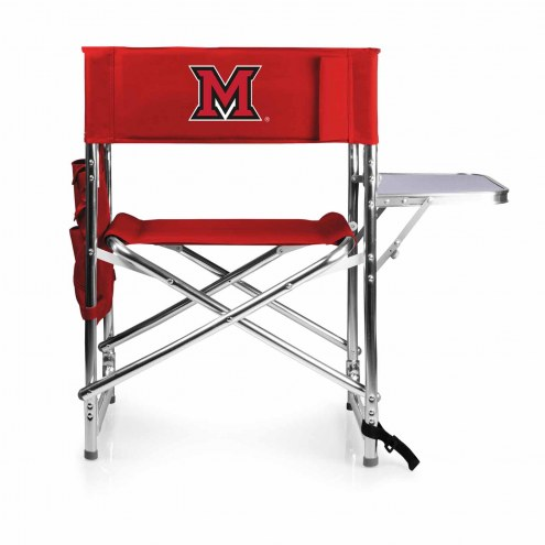 Miami of Ohio RedHawks Red Sports Folding Chair