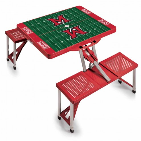 Miami of Ohio RedHawks Red Sports Folding Picnic Table