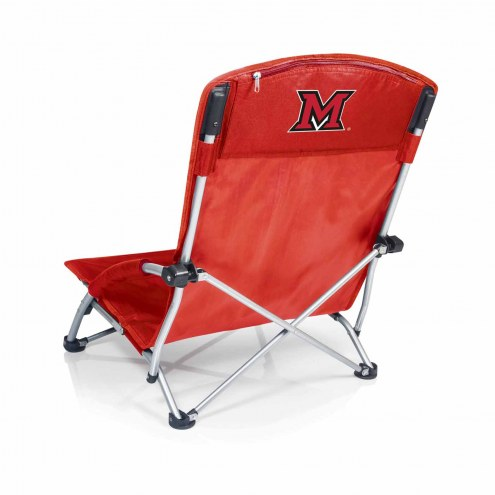 Miami of Ohio RedHawks Red Tranquility Beach Chair