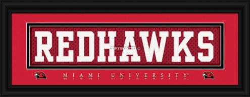"Miami of Ohio RedHawks ""Redhawks"" Stitched Jersey Framed Print"