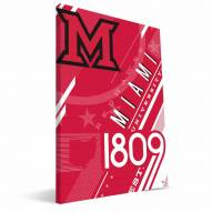 Miami of Ohio Redhawks Retro Canvas Print