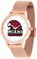 Miami Of Ohio Redhawks Rose Mesh Statement Watch