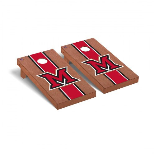 Miami of Ohio RedHawks Rosewood Stained Cornhole Game Set