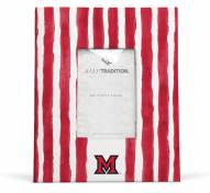 Miami of Ohio Redhawks School Stripes Picture Frame