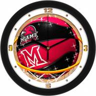 Miami of Ohio Redhawks Slam Dunk Wall Clock