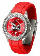 Miami of Ohio Redhawks Sparkle Women's Watch