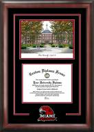 Miami of Ohio RedHawks Spirit Diploma Frame with Campus Image