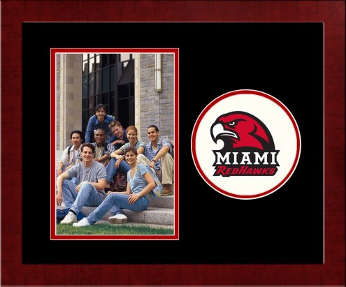 Miami of Ohio RedHawks Spirit Vertical Photo Frame