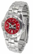 Miami of Ohio Redhawks Sport Steel AnoChrome Women's Watch