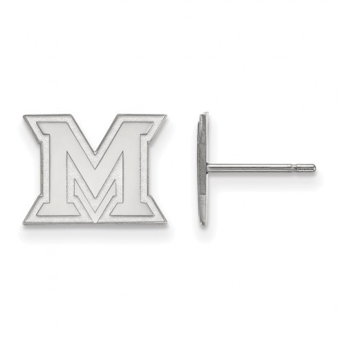 Miami of Ohio RedHawks Sterling Silver Extra Small Post Earrings