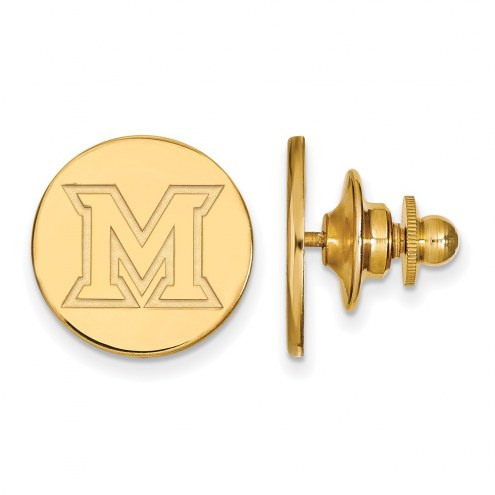 Miami of Ohio RedHawks Sterling Silver Gold Plated Lapel Pin