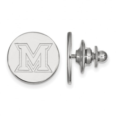 Miami of Ohio RedHawks Sterling Silver Lapel Pin