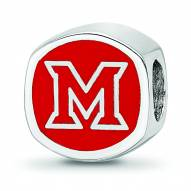 Miami of Ohio RedHawks Sterling Silver Logo Bead