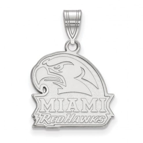 Miami of Ohio RedHawks Sterling Silver Medium Pendant