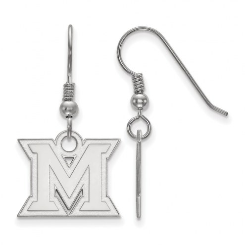 Miami of Ohio RedHawks Sterling Silver Small Dangle Earrings