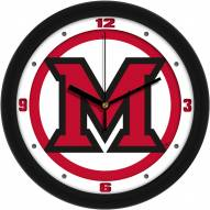 Miami of Ohio Redhawks Traditional Wall Clock