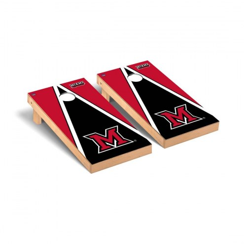 Miami of Ohio RedHawks Triangle Cornhole Game Set