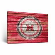 Miami of Ohio RedHawks Weathered Canvas Wall Art