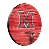 Miami of Ohio RedHawks Weathered Design Hook & Ring Game