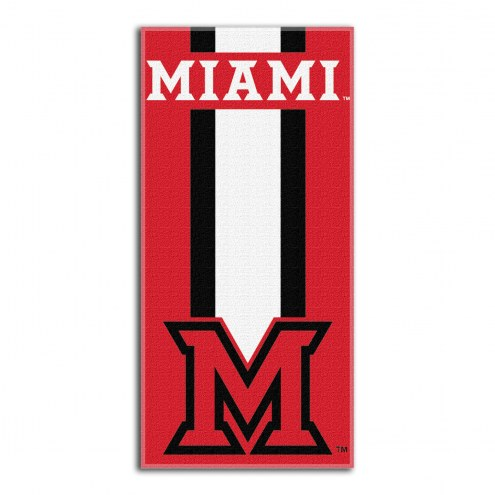 Miami of Ohio Redhawks Zone Read Beach Towel