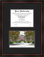 Miami University of Ohio Diplomate Framed Lithograph with Diploma Opening