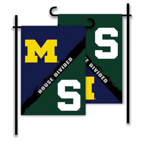 Michigan/Michigan State House Divided Garden Flag