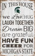 """Michigan State Spartans 11"""" x 19"""" In This House Sign"""
