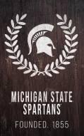 "Michigan State Spartans 11"" x 19"" Laurel Wreath Sign"