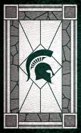 """Michigan State Spartans 11"""" x 19"""" Stained Glass Sign"""