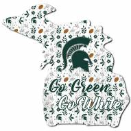 """Michigan State Spartans 12"""" Floral State Sign"""