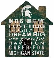"""Michigan State Spartans 12"""" House Sign"""