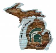 "Michigan State Spartans 12"" Roadmap State Sign"