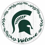 """Michigan State Spartans 12"""" Welcome Circle Sign"""